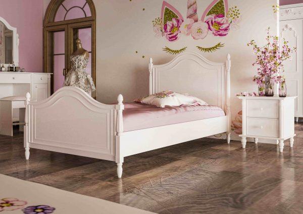 تخت خواب تک نفره سرویس خواب چوبی ویکتوریا مدل جوان