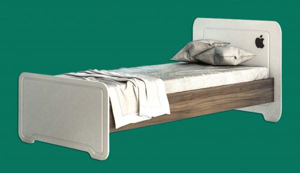 تخت خواب یک نفره سرویس چوب اپل