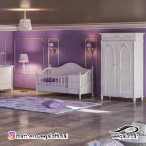 سرویس خواب چوبی ویکتوریا مدل کودک